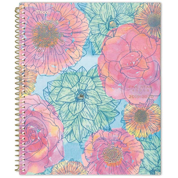At-A-Glance In Bloom Academic Weekly/Monthly Planner, Gold