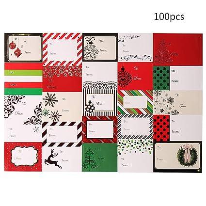 Pegatinas de Navidad, pegatinas de regalo autoadhesivas Jumbo para regalos de vacaciones, etiquetas de