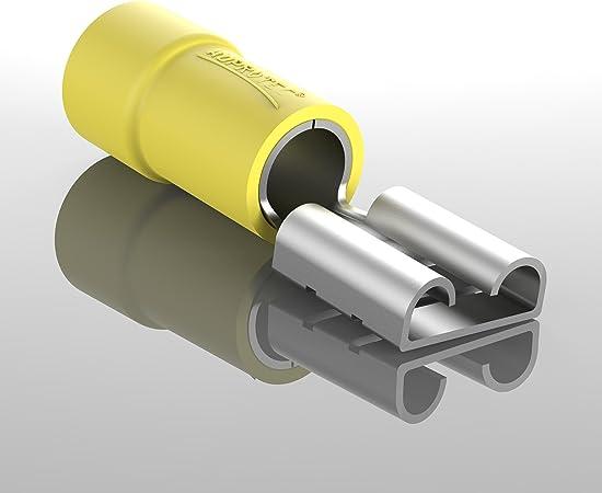 Auprotec 10x Flachsteckhülsen 4 0 6 0 Mm Gelb Elektronik