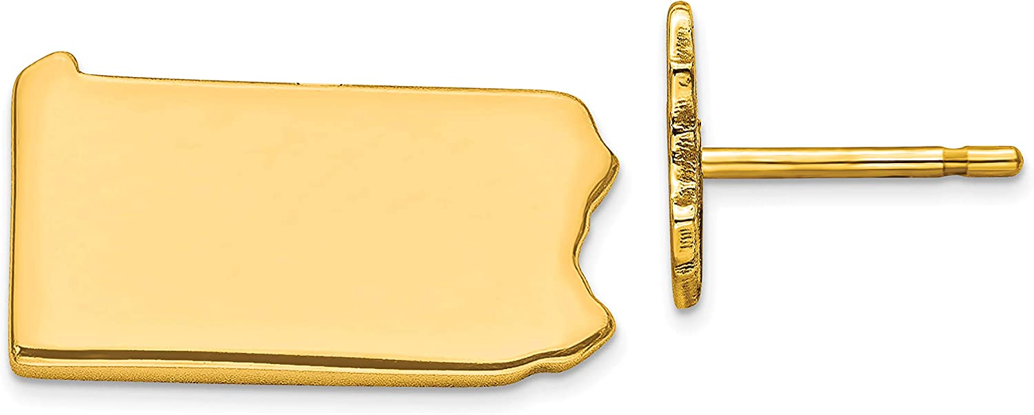 GP PA Large State Earring Travel