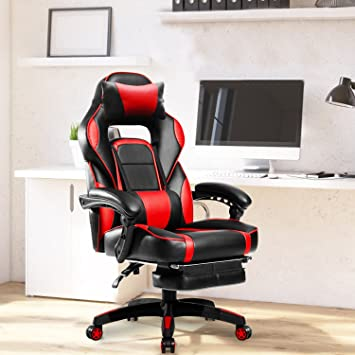Excellent Dangruut Gaming Chair With Footrest Ergonomic Office Reclining Chair 300Lbs High Back Large Home Desk Chairs For Adults Computer Gamers Pc Racer Forskolin Free Trial Chair Design Images Forskolin Free Trialorg