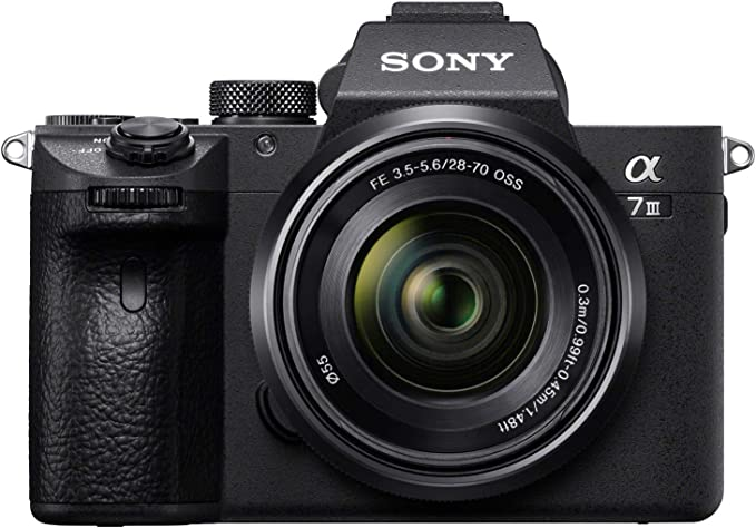 Amazon.com : Sony a7 III (ILCE7M3K/B) Full-frame Mirrorless Interchangeable-Lens Camera with 28-70mm Lens with 3-Inch LCD, Black : Camera & Photo