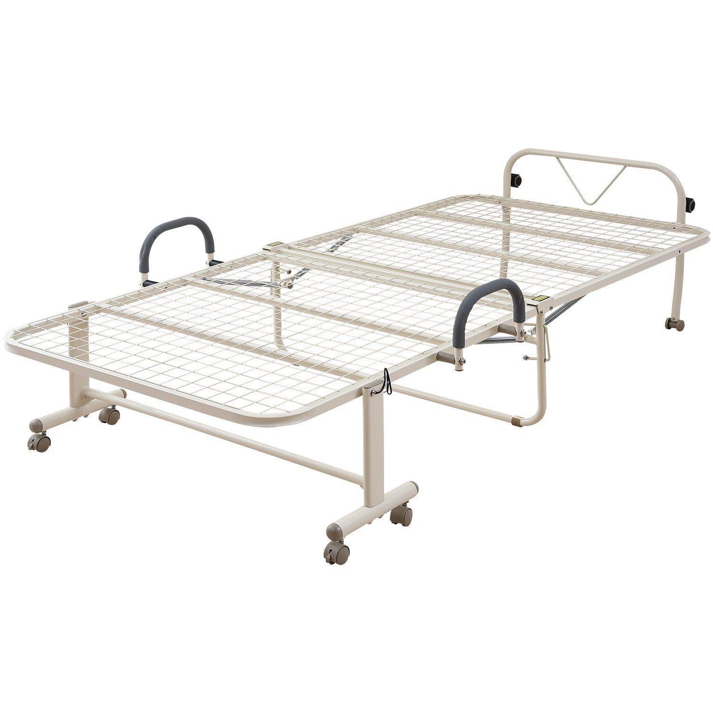 山善(YAMAZEN) ベッド シングル メッシュ ハイタイプ 折りたたみ アイボリー 幅105×奥行208×高さ55.5cm HM-1S(IV) B0797FS6BK アイボリー
