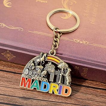 España Viaje Souvenir Lindo Llavero Colorido Madrid Vintage ...