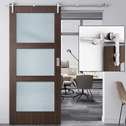 Stupendous Easelife 8 Ft Stainless Steel Sliding Barn Door Hardware Track Kit Heavy Duty Anti Rust Anti Corrosion Slide Smoothly Quietly Easy Install Fit Up To Download Free Architecture Designs Itiscsunscenecom