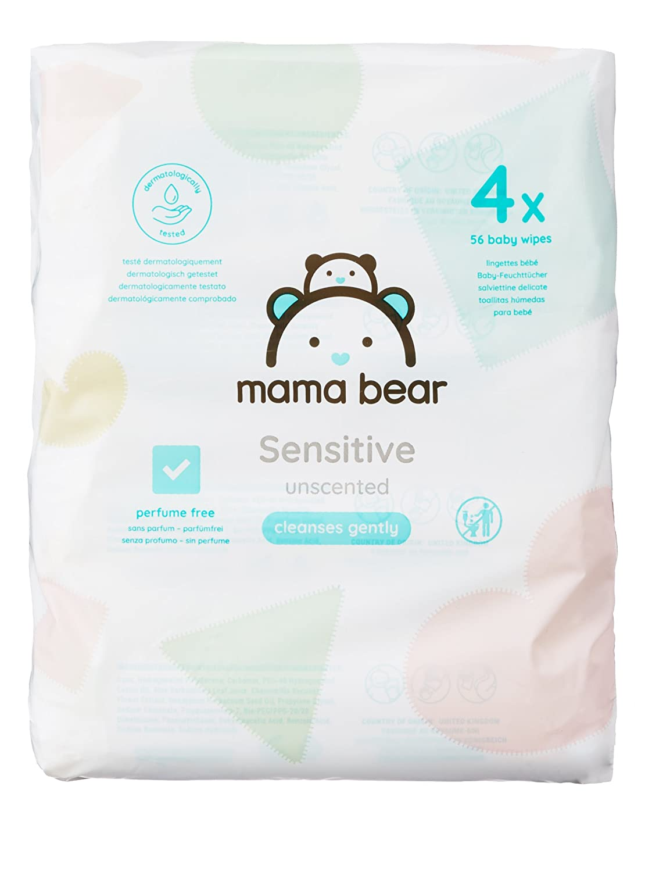 Mama Bear Sensitive Toallitas Húmedas para Bebé - 4 Paquetes (224 Toallitas): Amazon.es: Amazon Pantry
