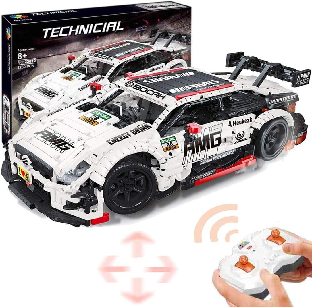 Plastic Racing Car Building Block Vehicles Kits