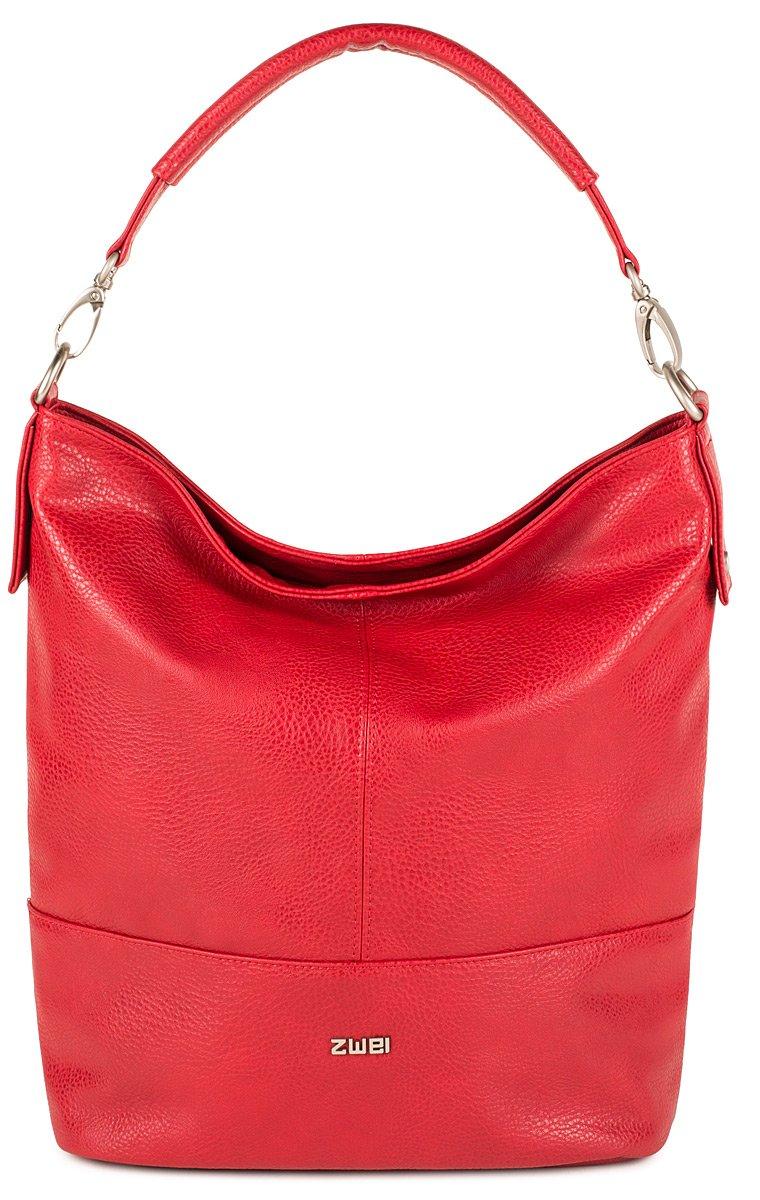 Mademoiselle M13 Tasche Damen Beuteltasche Schultertasche 34x34x14 cm (BxHxT), Farbe:Nubuk Stone zwei
