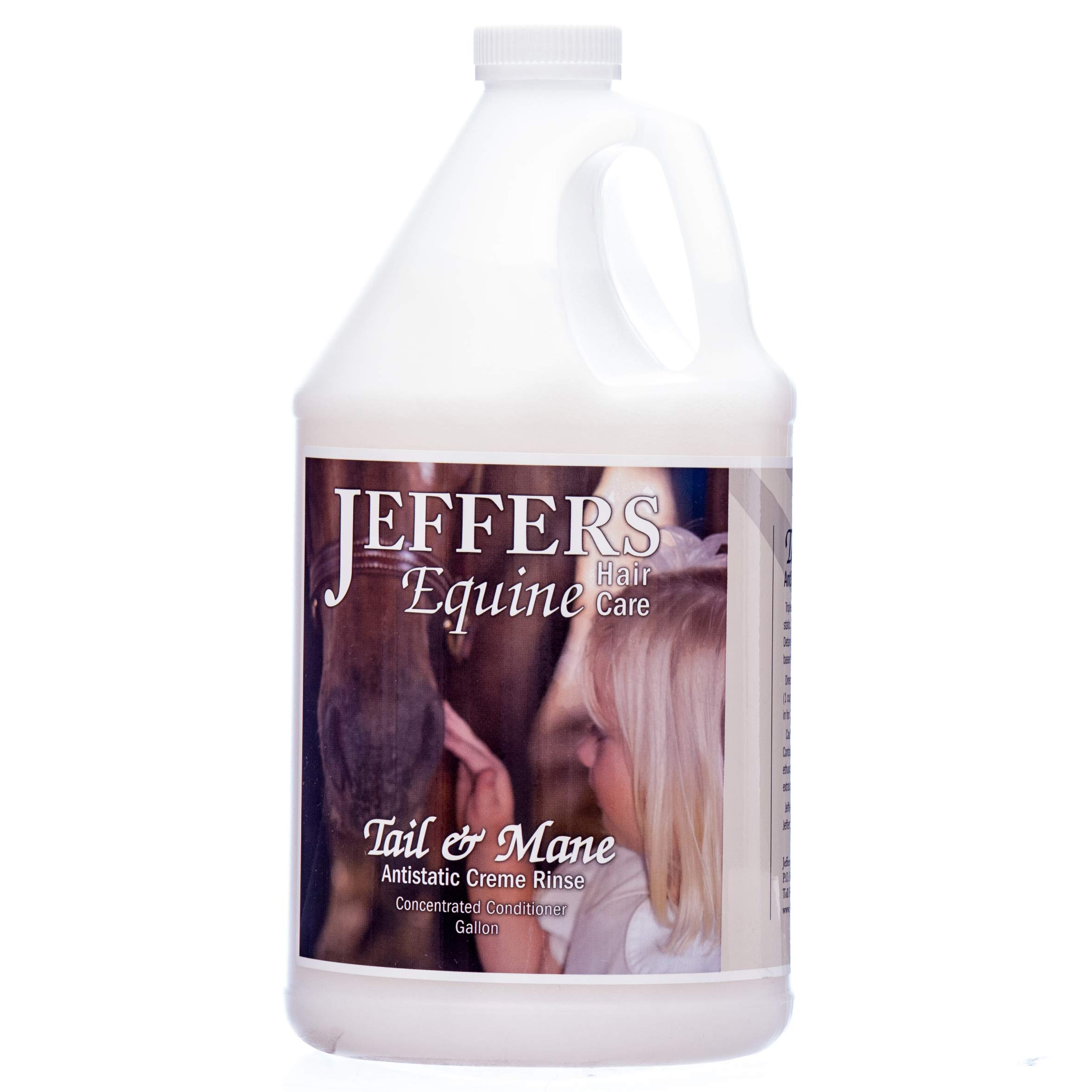 Jeffers Tail & Mane Anti-Static Creme Rinse, Gallon by Jeffers