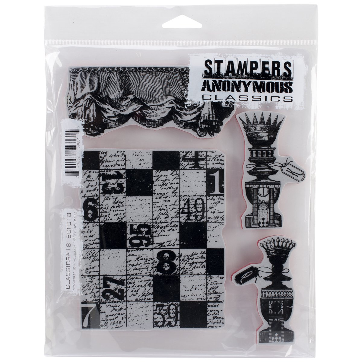 Stampers Anonymous Rubber Stamp Set 7 X8.5 -Classics  12 B00I3ODL8S | Modern Und Elegant In Der Mode
