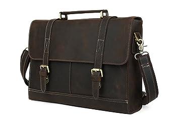 Bureau Pour Homme : Tiding sacoche pour hommes en cuir véritable portefeuille bureau
