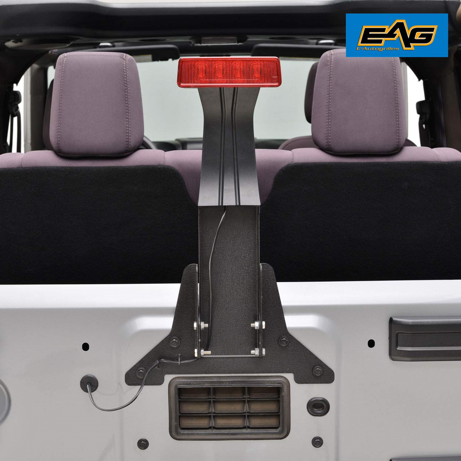 amazon com: e-autogrilles third brake light mounting bracket and extension wire  harness for 07-17 jeep wrangler jk: automotive