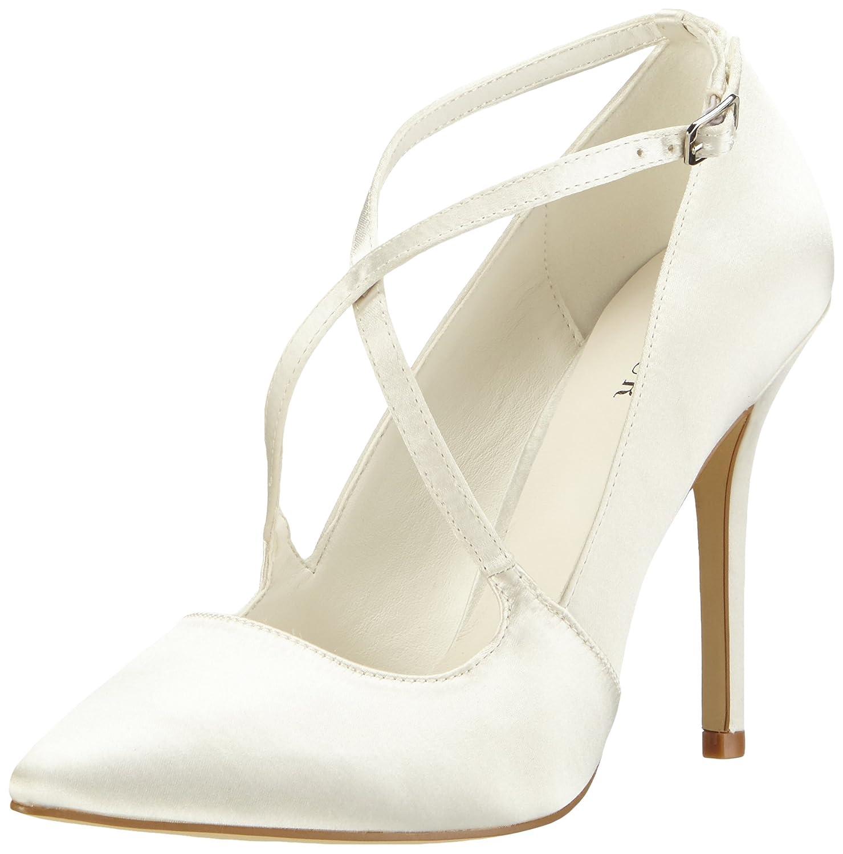 TALLA 39 EU. Menbur Wedding Rosario - Zapatos de tacón Cerrados de Raso Mujer