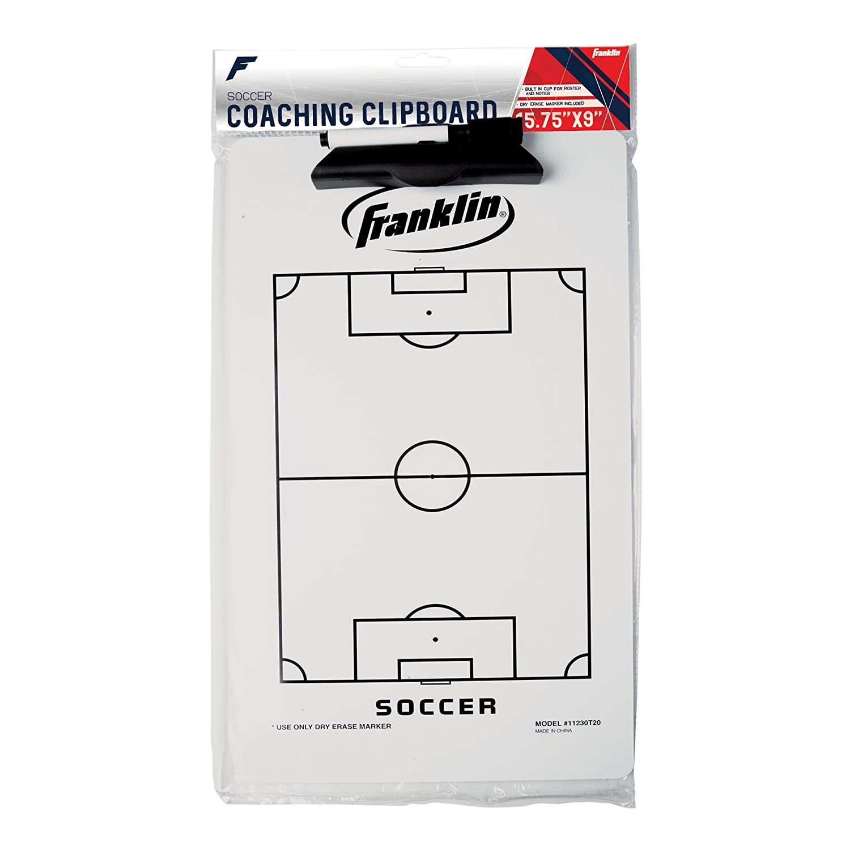 Franklin Sports Dry Erase Soccer Coach's Clipboard 11230