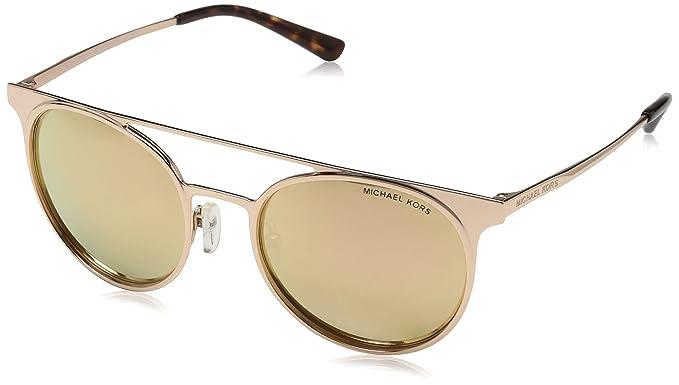 Michael Kors 0MK1030 Gafas de sol, Shiny Rose Gold/Tone, 52 ...