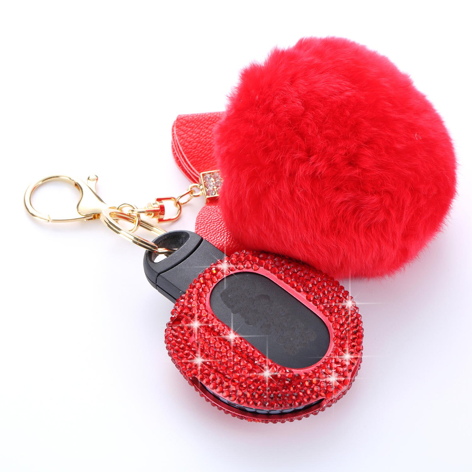 MissBlue Handmade Crystal Key Fob Case For BMW Remote Key Aircraft Aluminum Protector Cover Fits BMW Mini Cabrio Clubman Countryman Cooper S JCW Silver Diamond Key Fob Keychain for Women for Girls