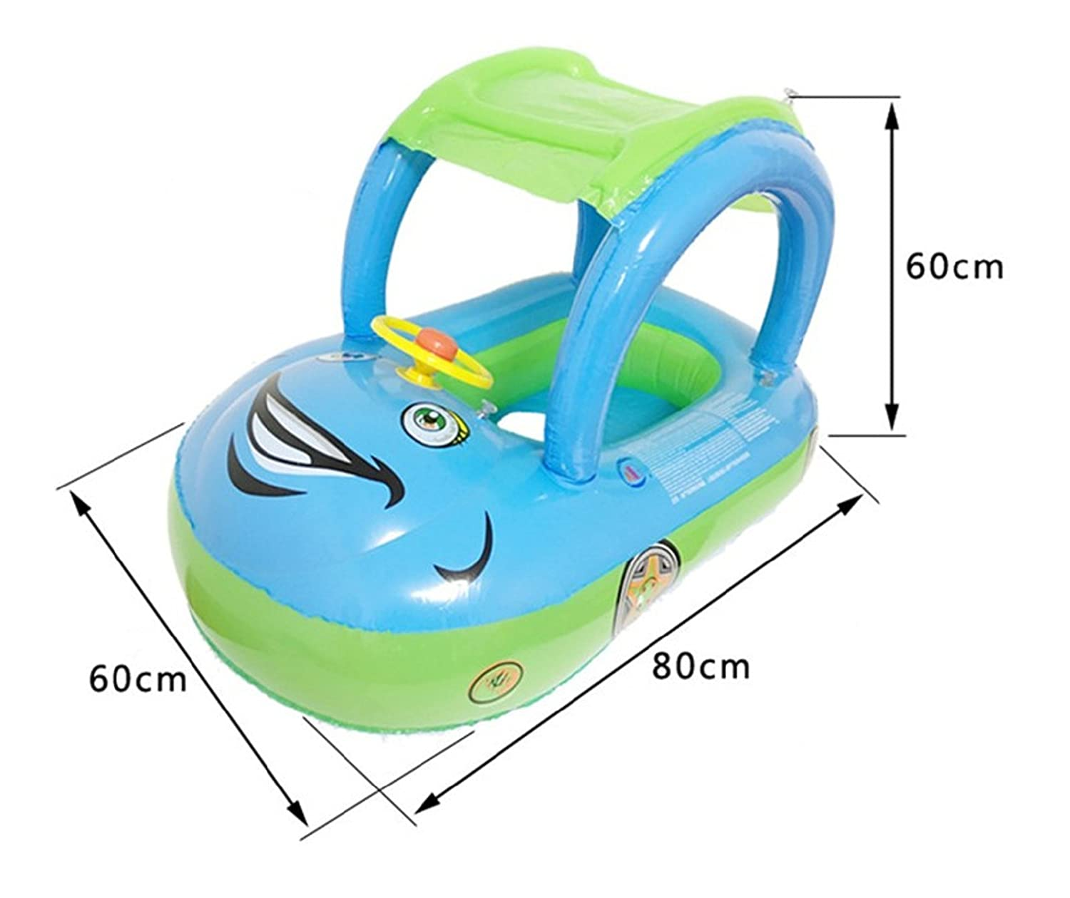 Baby Float Seat Car Sun Shade Baby Swim Inflatable Donut Ring Children Rubber Circles Flotador Swimtrainer Swimming Accessories (Purple): Toys & Games