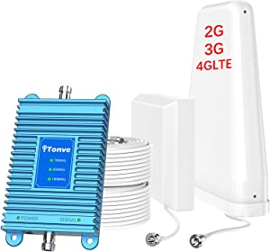 Cell Phone Signal Booster 2G 3G 4G Band 2/25 Band 5 and Band13 700/850/1900Mhz Cell Signal Booster Cell Phone Repeater Amplifier for Home and Office,Increase Data Speed and No More Dropped Calls