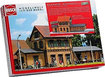 Busch Edificio ferroviario de modelismo ferroviario H0 escala 1:87 (BUE1468): Amazon.es: Juguetes y juegos