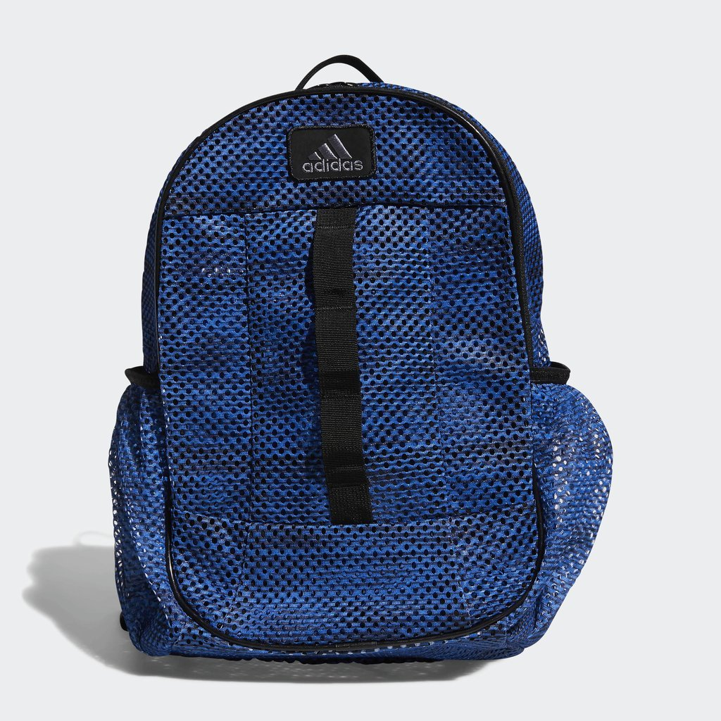 adidas Hermosa Mesh Backpack, Med Blue, One Size
