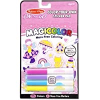 Melissa & Doug On The Go Magicolor Color-Your-Own Sticker Pad - Princesses, Animals, and Fairies