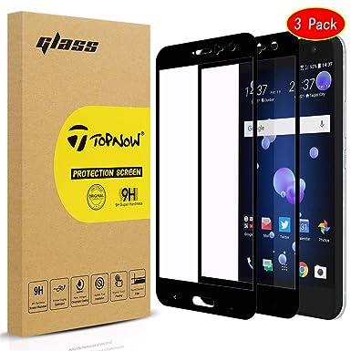 Topnow [3 Paquetes] HTC U11 Protector de Pantalla, 2.5d Cobertura ...