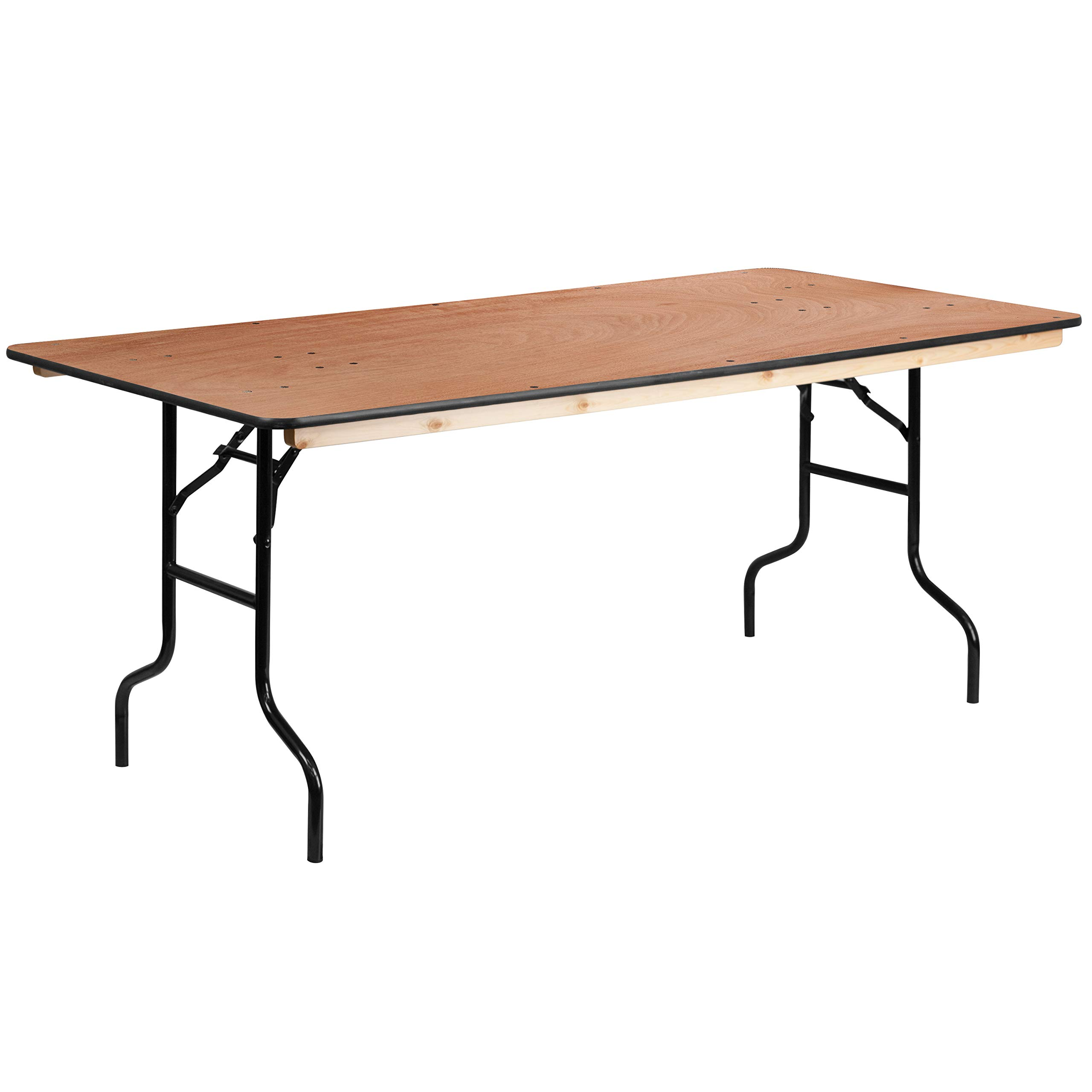 Flash Furniture 36'' x 72'' Rectangular Wood Folding Banquet Table with Clear Coated Finished Top by Flash Furniture