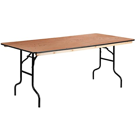 Amazon.com: Flash Furniture XA-3672-P 36.0 x 72.0 in Mesa de ...