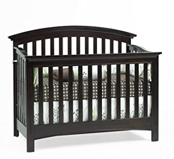 Amazon Com Baby Cache Bliss Essential Curved Top Crib Espresso Baby