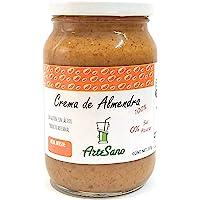Crema de ALMENDRA tostadas 100% natural artesanal sin sal ni azúcar o conservantes artificiales CONTENIDO 237 gramos
