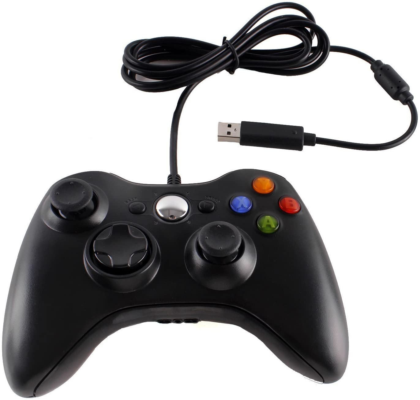 Wired USB Game Controller Gamepad Game Joystick Joypad for Microsoft Xbox 360 & Windows PC (Black): Computers & Accessories