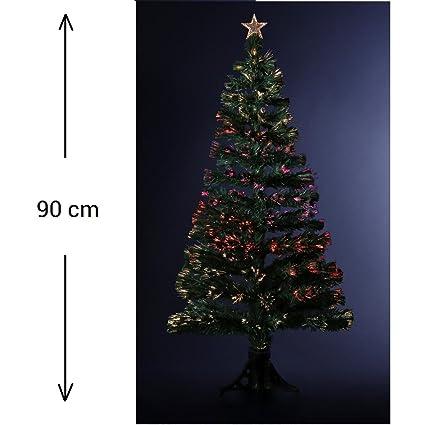 künstlicher leuchtender Weihnachtsbaum mit Nadeloptik + 88 leuchtende Fasern (Nadeln) mit wechselndem Licht - geliefert mit S