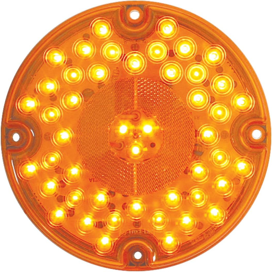 Maxxima M90081Y 17 LED Amber 7 Round Park//Turn Bus Light