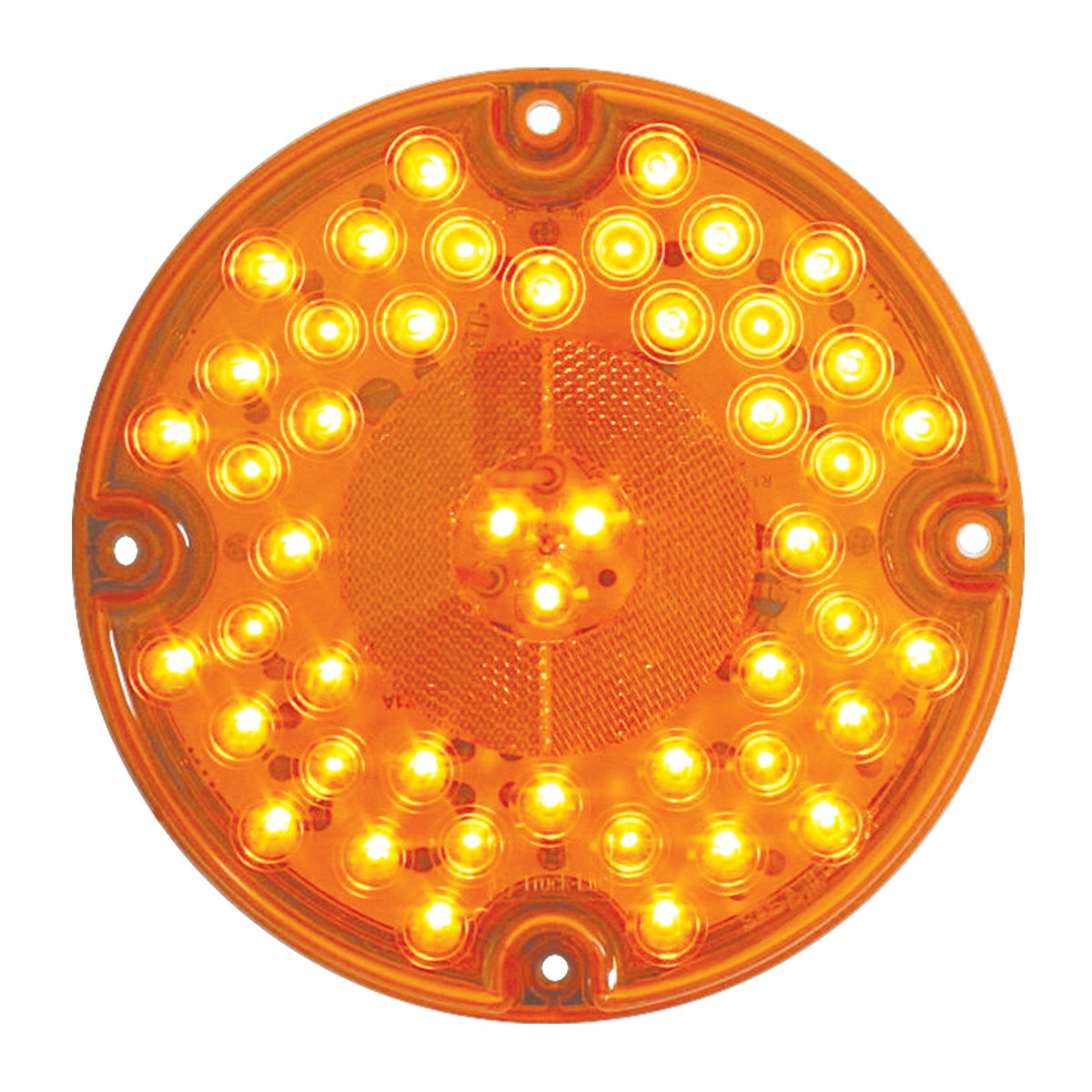 Grand General 82334 Amber 7'' Round 47-LED Park/Turn/Clearance Sealed Bus Light with Amber Lens