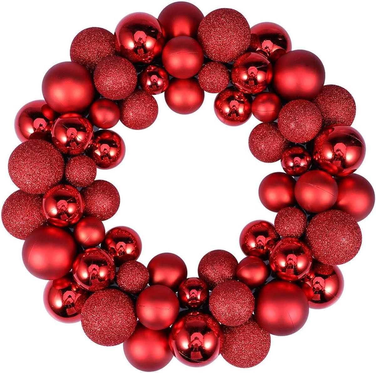 VALICLUD Adorno Navideño Guirnalda Festivo Decoración Navideña Resplandecer Árbol de Navidad Bolas Decoración Fiesta Navideña Puerta de Entrada Colgante Decoraciones Dorado