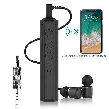 Receptor de audio Bluetooth para auriculares, gulaki 3,5 mm Cable adaptador de auriculares