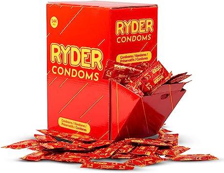 Ryder Preservativos - Paquete de 144 - Condones de tamaño normal en una caja a granel práctica; Tetina con un lubricante para una penetración suave.: Amazon.es: Salud y cuidado personal