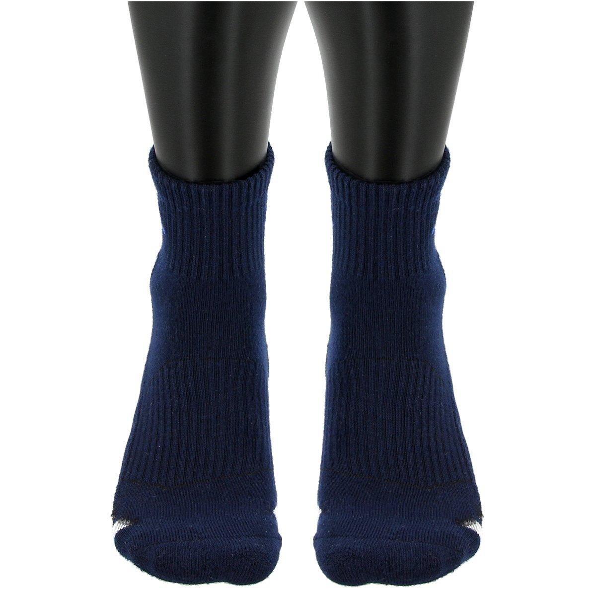 Adidas uomini è attutito 3 pack quarto calzini, collegiale marina / bianco