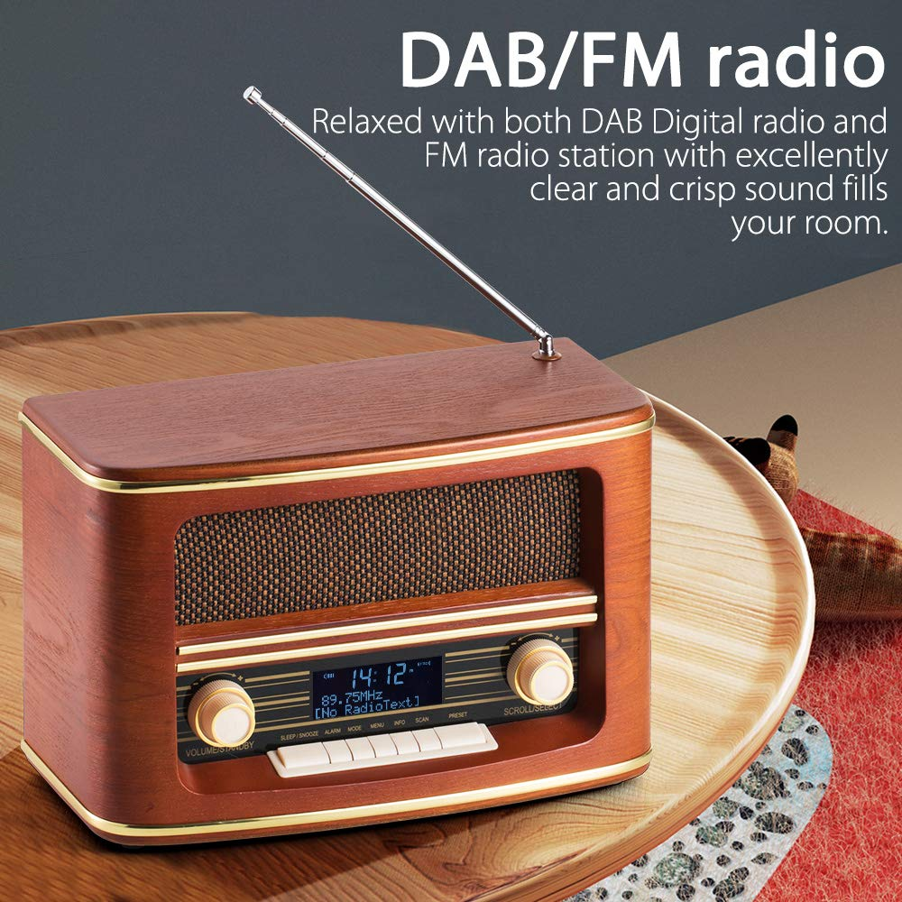 Shuman MC-261 Nostalgisches Holzradio mit CD / MP3-Player, USB ...
