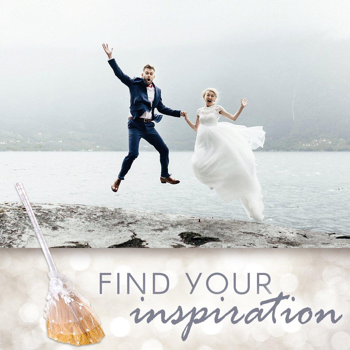 Amazon Darice Vl3080 Wedding Jump Broom Decorated 32 Inch