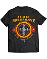 9248 I Aim To Misbehave Mens T-Shirt Serenity Firefly Browncoat Blue Sun Corporation