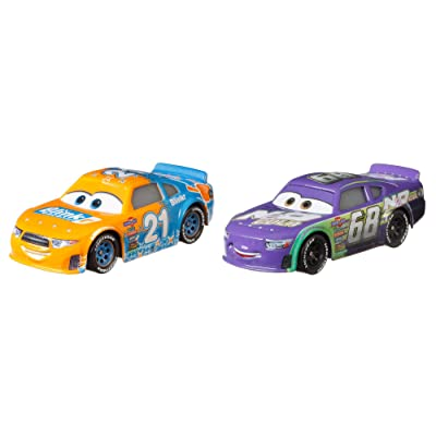 Disney and Pixar Cars Speedy Comet and Parker Brakeston 2-Pack Story Race Toy: Toys & Games
