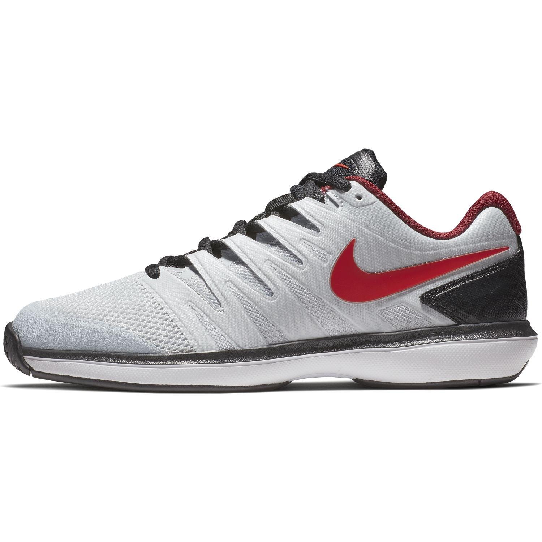 NIKE Men's Air Zoom Prestige Tennis Shoe B0761Y3QPQ 11 M US|Pure Platinum/Habanero Red/Black/White