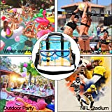 Mofasvigi Clear Bag Stadium Approved, Portable Tote Transparent Adjustable Crossbody Shoulder Bag Waterproof Handbag for School, Work, Concerts, Sports, Travel