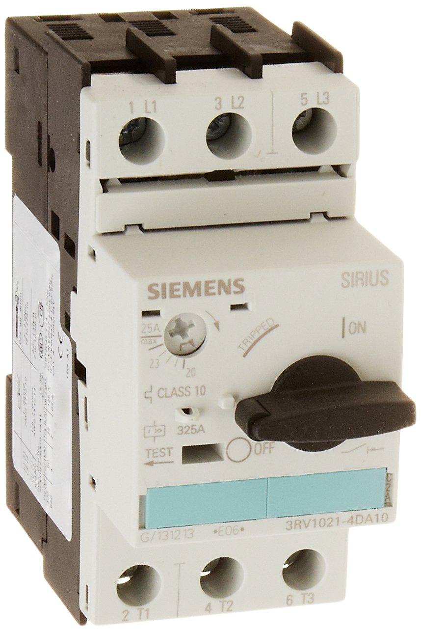 Siemens 3RV1021-4DA10 Manual Starter and Enclosure, Open Type, 20-25 FLA Adjustment Range