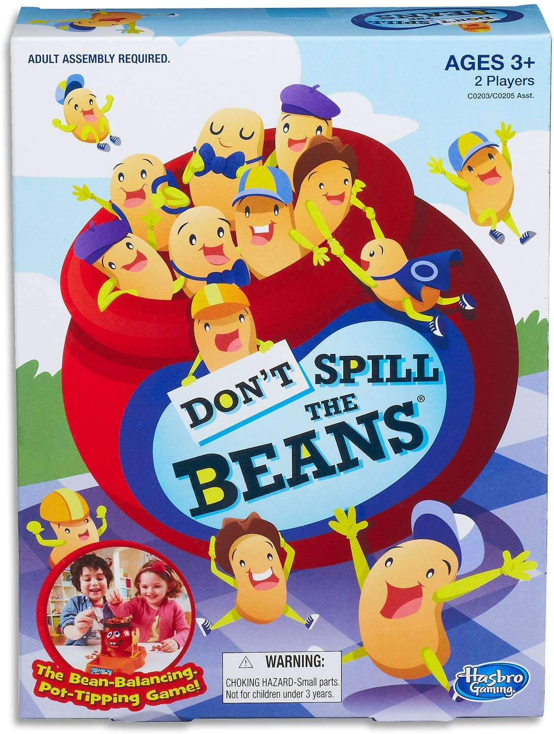 Hasbro Gaming Don't Spill The Beans Game,Brown/a
