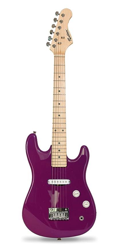 Rockburn - Set de guitarra eléctrica juvenil, color morado