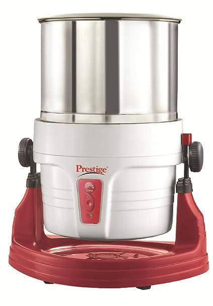 Prestige Wet Grinder PWG 01 (200 watts) with Tilting Drum, Cocunut scraper and Atta kneader attachment