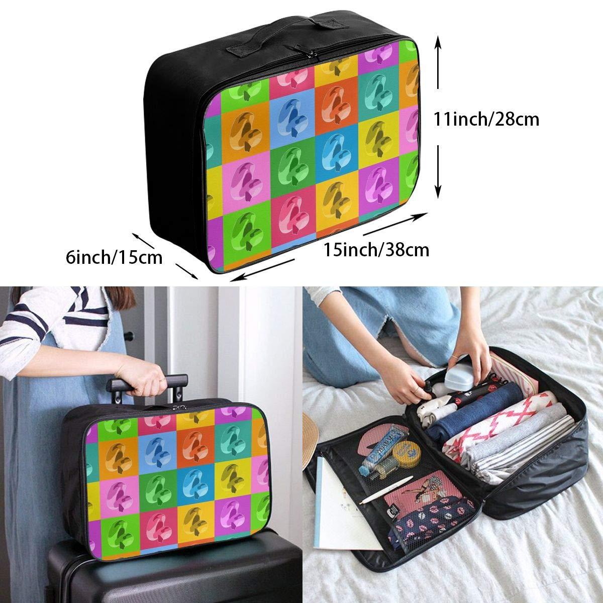 Travel Luggage Duffle Bag Lightweight Portable Handbag Duck Large Capacity Waterproof Foldable Storage Tote