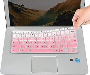 Keyboard Cover for HP Chromebook 14a-na 14a-ca 14b-ca, Chromebook 14-ak 14-ca Series, Chromebook 14a-na0010nr 14a-na0020nr 14a-na0070nr 14a-na0090nr 14b-ca0010nr 14a-ca0036nr Series - Gradual Pink